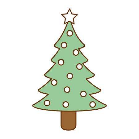 christmas pine tree icon vector illustration design