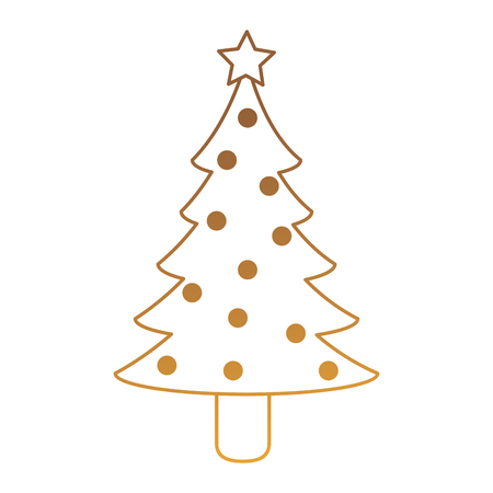 Christmas pine tree icon vector illustration, graphic design.