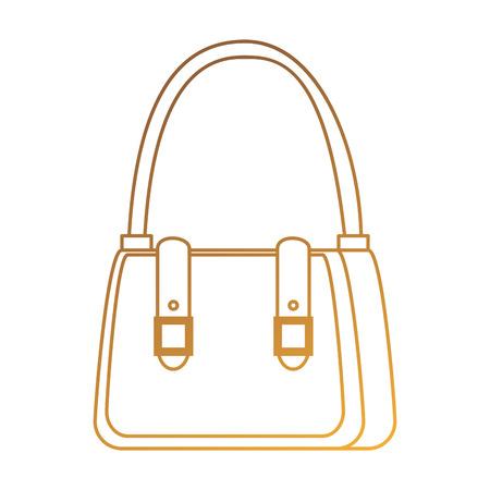 Female handbag elegant icon vector illustration, graphic design.