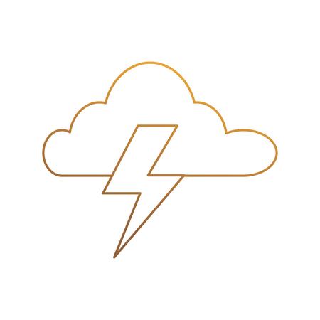 Wolkenhemel met de vectorillustratie van het stralenpictogram, grafisch ontwerp. Stock Illustratie