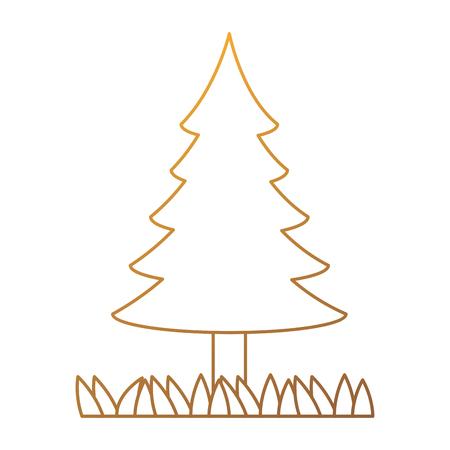 Pine tree plant isolated icon vector illustration, graphic design.