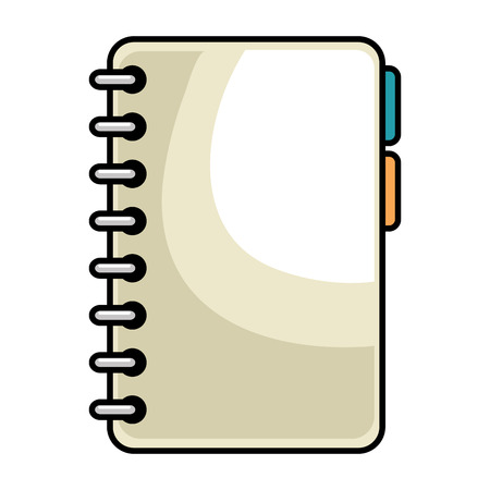 notebook with tabs icon vector illustration design Illustration