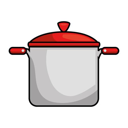 Olla de cocina aislado icono de ilustración vectorial de diseño Foto de archivo - 89528266