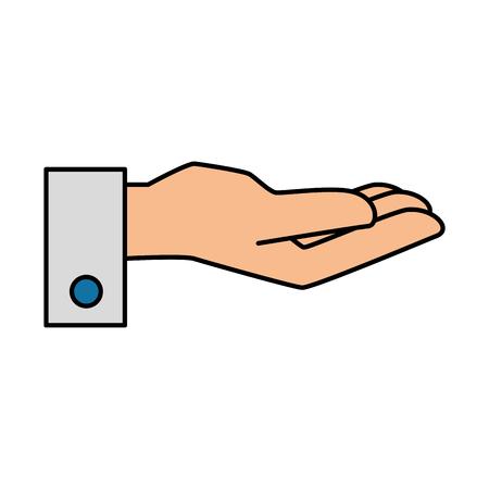handkelner ontvankelijk pictogram vectorillustratieontwerp