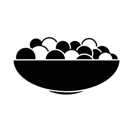 bowl with fresh grapes vector illustration design Ilustração