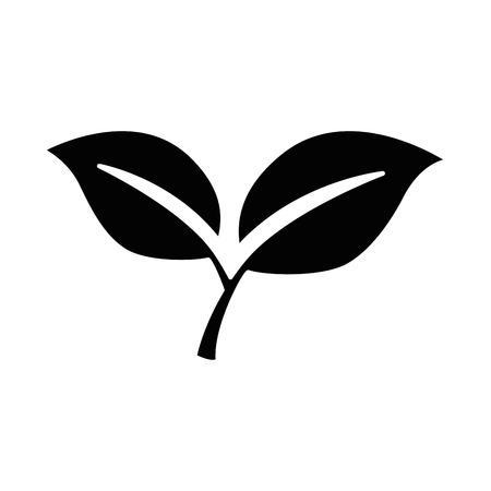 leafs plant isolated icon vector illustration design Ilustração