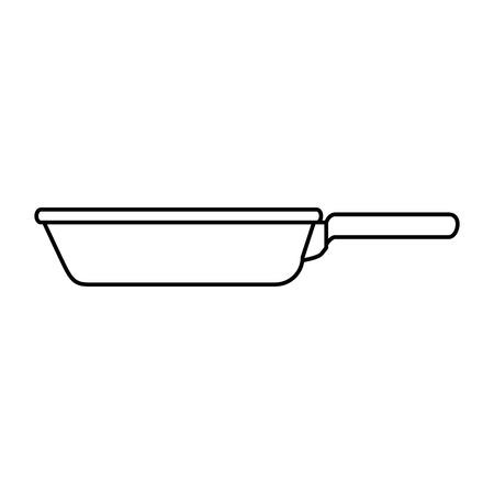 Kitchen pan isolated icon vector illustration, graphic design.