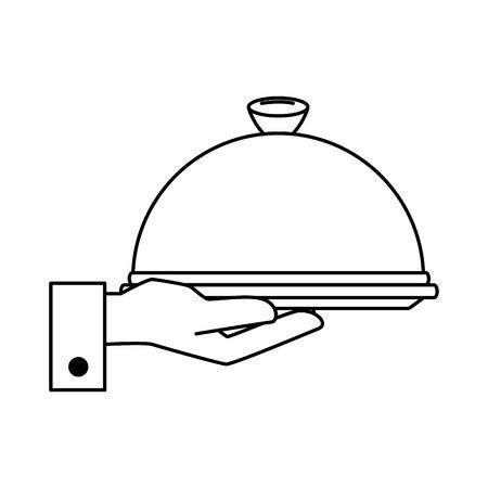 Mano con el ejemplo aislado del vector del icono del servidor de la bandeja, diseño gráfico. Foto de archivo - 89536928