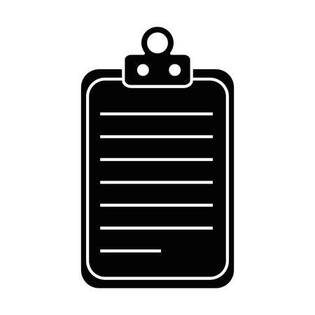 Paper clipboard isolated icon vector illustration, graphic design.