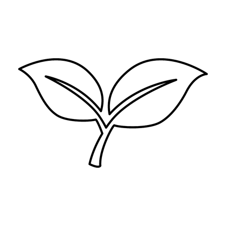 Leafs plant isolated icon vector illustration, graphic design.