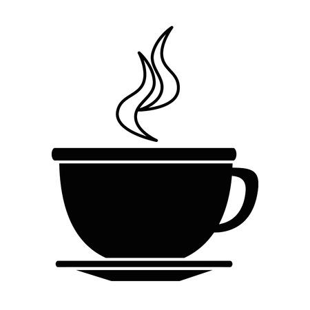 맛있는 컵 커피 아이콘 벡터 일러스트 레이 션, 그래픽 디자인.