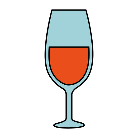 Wine cup isolated icon vector illustration, graphic design. Illustration