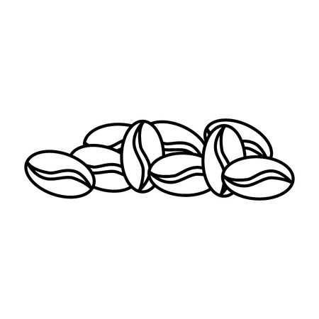 Coffee seeds isolated icon vector illustration, graphic design.