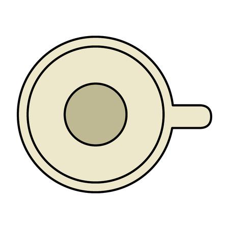 Delicious cup coffee icon vector illustration, graphic design. 向量圖像