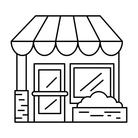 Store front isolated icon vector illustration, graphic design.