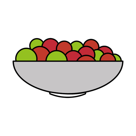 bowl with fresh grapes vector illustration design Stock fotó - 89532143