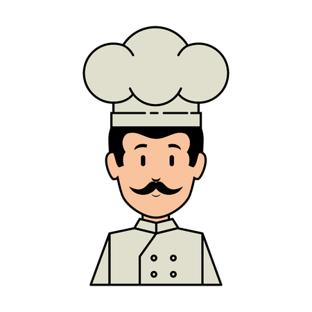 Professional chef avatar, character vector illustration