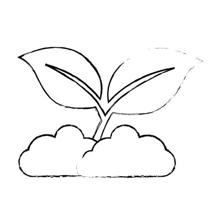 Bladeren plant geïsoleerd pictogram vectorillustratieontwerp Stockfoto - 89530977