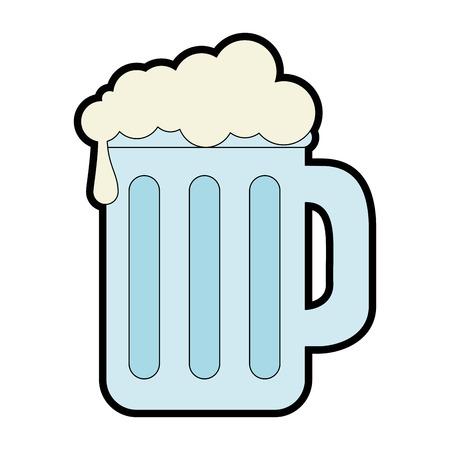 Pot de bière isolé icône illustration vectorielle design Banque d'images - 89532184