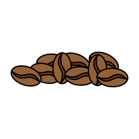 coffee seeds isolated icon vector illustration design Banco de Imagens - 89530800