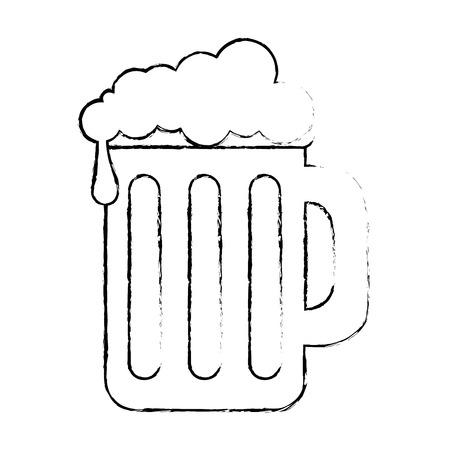 beer jar isolated icon vector illustration design Ilustrace