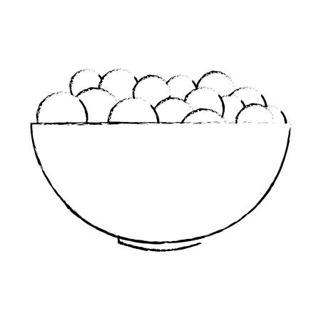 kom met het verse ontwerp van de druiven vectorillustratie