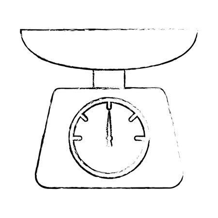kitchen balance isolated icon vector illustration design Illusztráció