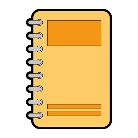 notebook with tabs icon vector illustration design Ilustração