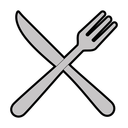 fork and knife cutlery icon vector illustration design Illustration