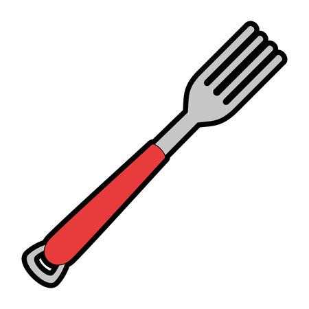 Foek bestek geïsoleerd pictogram vector illustratie ontwerp