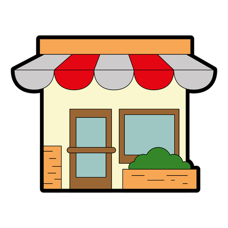 store front isolated icon vector illustration design