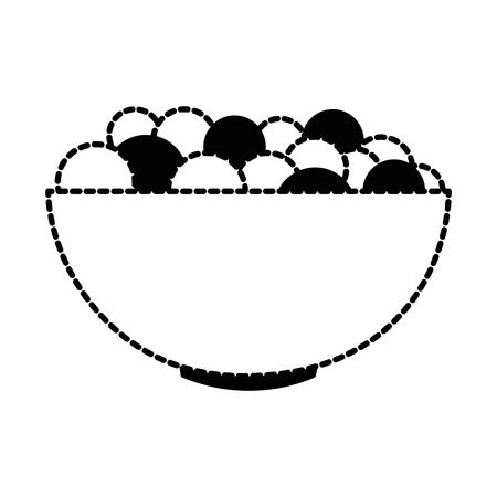 신선한 포도 벡터 일러스트 디자인으로 그릇