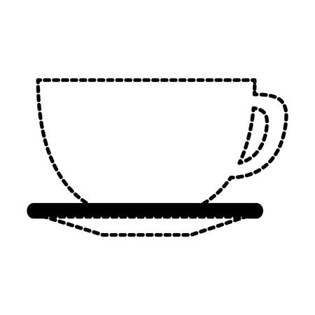 맛있는 컵 커피 아이콘 벡터 일러스트 디자인