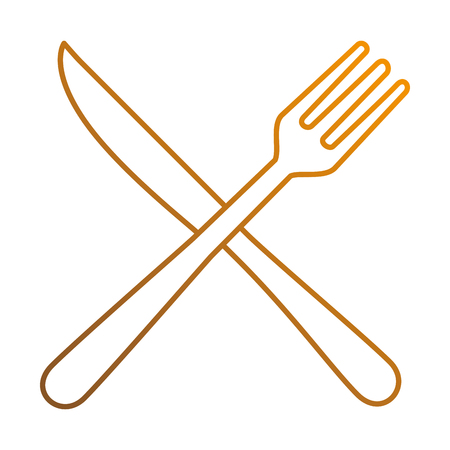 modern kitchen: fork and knife cutlery icon vector illustration design Illustration