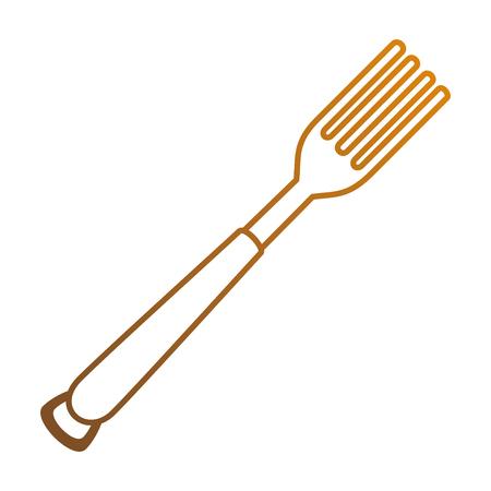 vork bestek geïsoleerd pictogram vector illustratie ontwerp Stock Illustratie