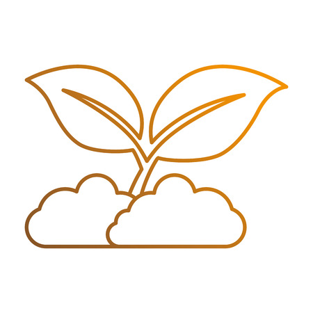 leafs plant isolated icon vector illustration design 向量圖像