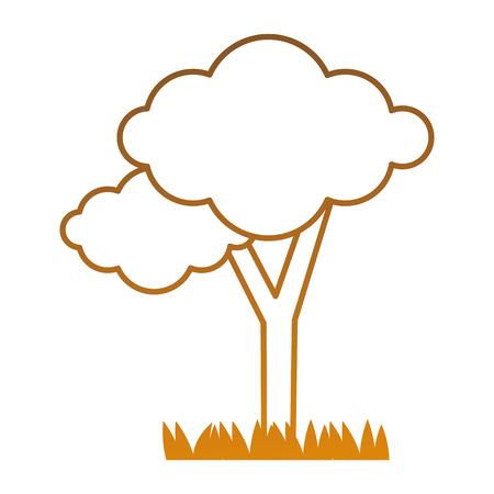 tree plant isolated icon vector illustration design Ilustrace