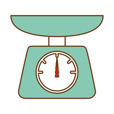 kitchen balance isolated icon vector illustration design Çizim