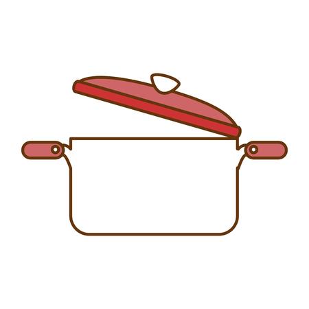 kitchen pot open isolated icon vector illustration design Illustration