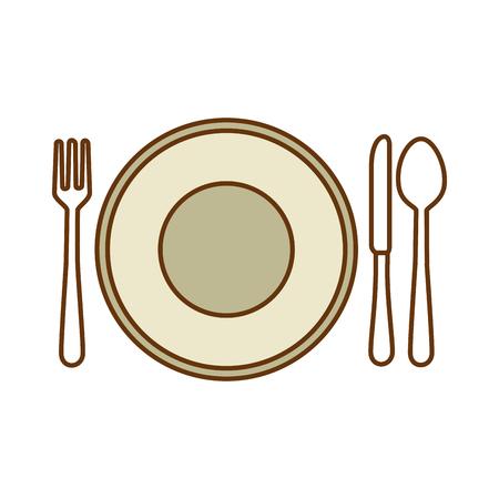 カトラリーアイコンベクトルイラストデザインの料理  イラスト・ベクター素材