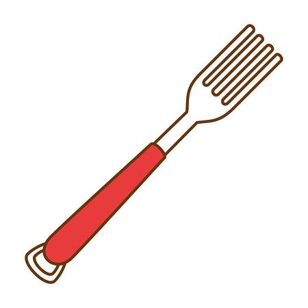 vork bestek geïsoleerd pictogram vector illustratie ontwerp Vector Illustratie