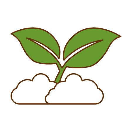 bladeren plant geïsoleerd pictogram vectorillustratieontwerp