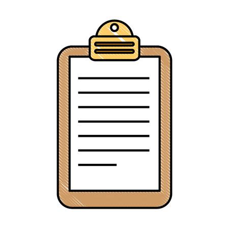 종이 클립 보드 격리 된 아이콘 벡터 일러스트 레이 션 디자인 스톡 콘텐츠 - 89536383