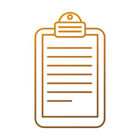 papier klembord geïsoleerd pictogram vector illustratie ontwerp