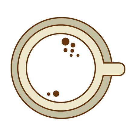おいしいカップコーヒーアイコンベクトルイラストデザイン