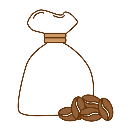 bag coffee seeds isolated icon vector illustration design Illustration
