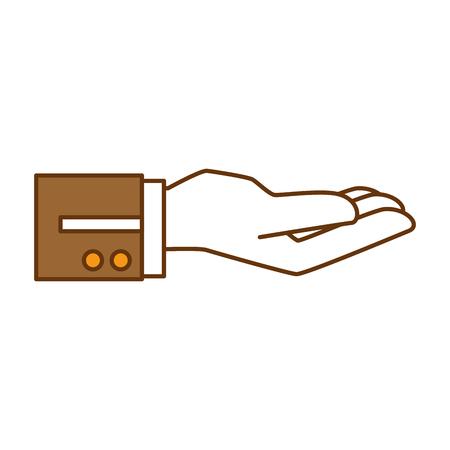 hand waiter receibed icon vector illustration design Ilustração
