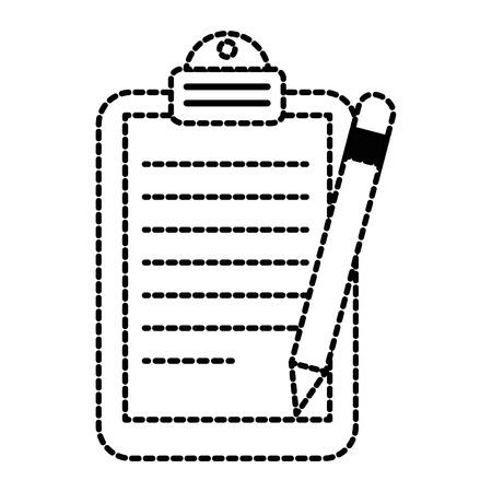 paper clipboard with pencil vector illustration design Illusztráció