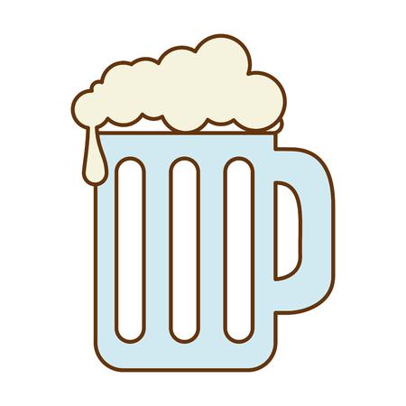 Pot de bière isolé icône illustration vectorielle design Banque d'images - 89536832