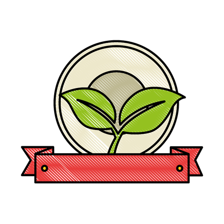 leafs plant isolated icon vector illustration design Ilustracja